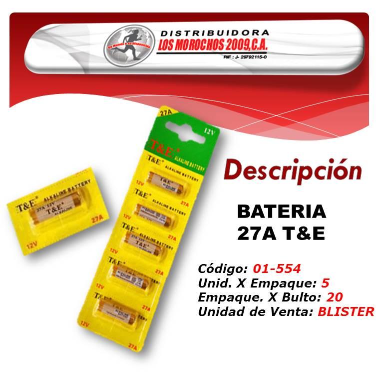 BATERIA 27A T&E 12V 5X1