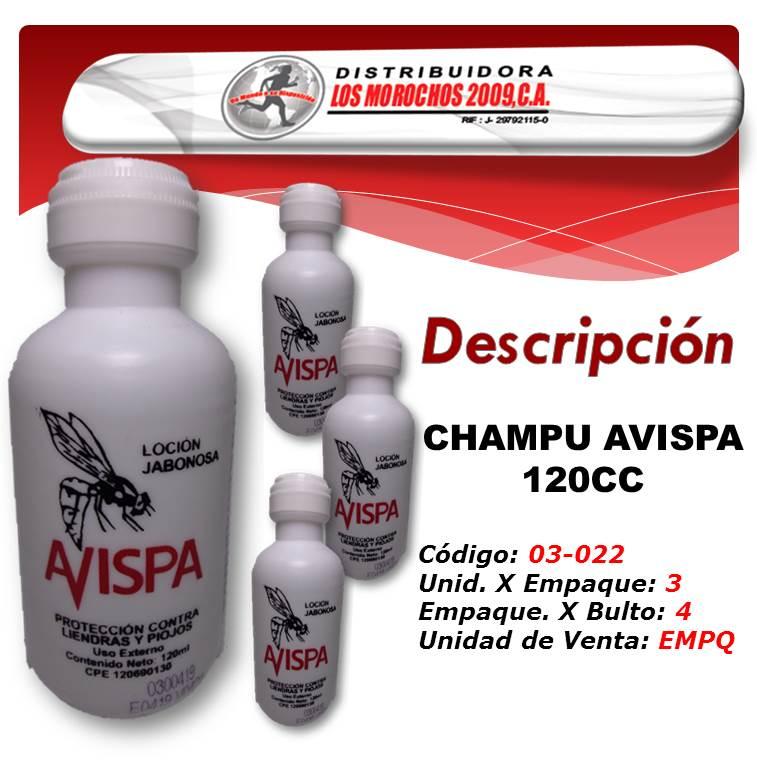 CHAMPU AVISPA 120CC 3X1