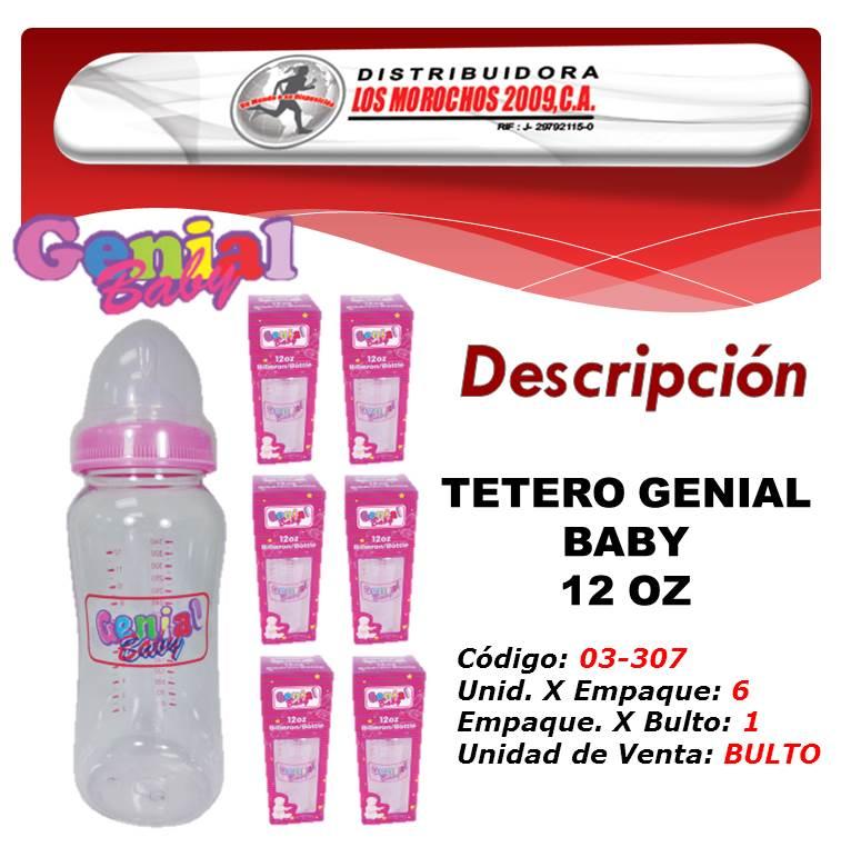 TETERO GENIAL BABY 12 OZ 6X1