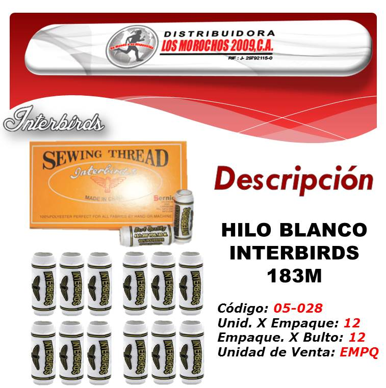 HILO BLANCO INTERBIRDS 183M. 1X12UND  (LY232)