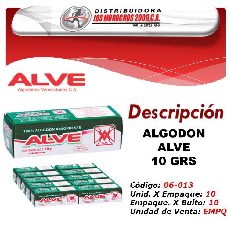 ALGODON ALVE 10 GRS 1X10