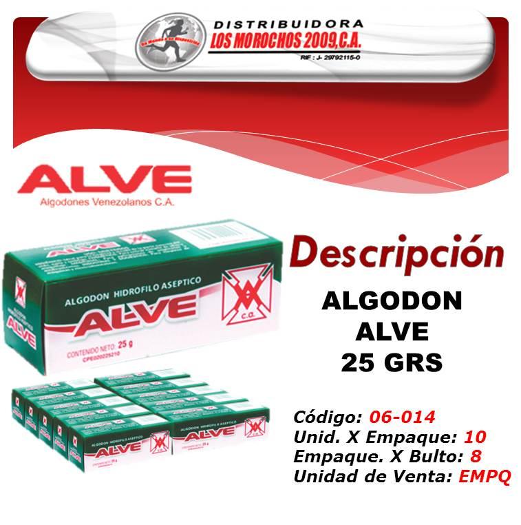 ALGODON ALVE 25 GRS 1X10