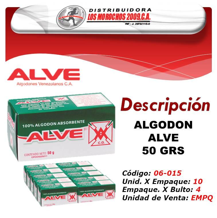 ALGODON ALVE 50 GRS 1X10