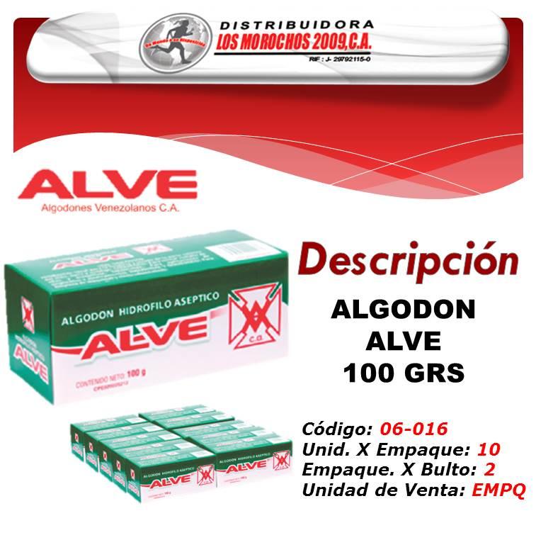 ALGODON ALVE 100 GRS 1X10
