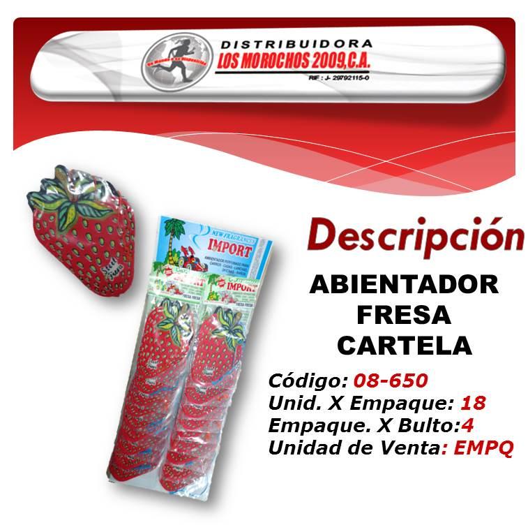 AMBIENTADOR FRESA  CARTELA IMPORT 18X1