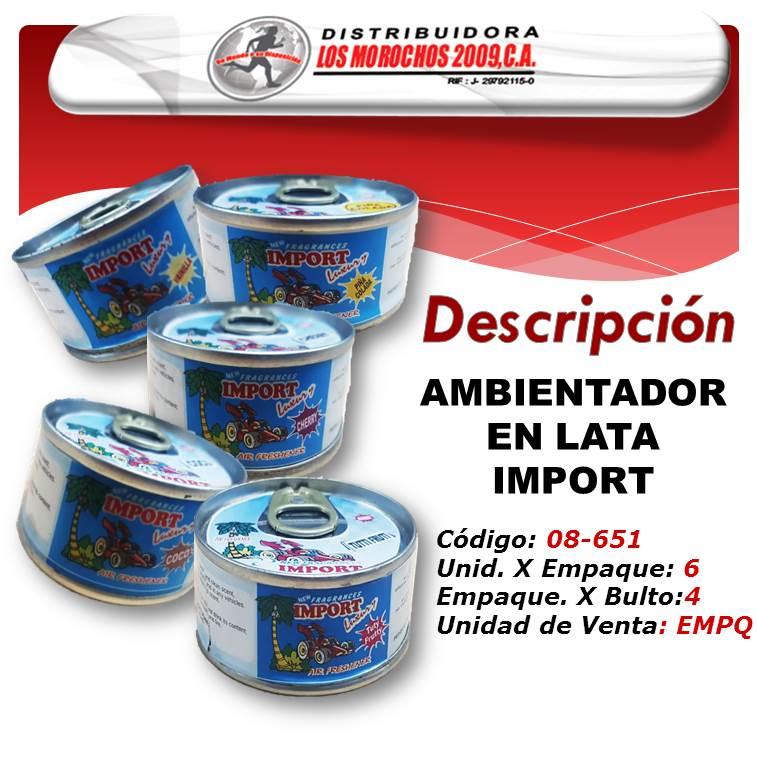 AMBIENTADOR  EN LATA SURTIDO IMPORT 6X1