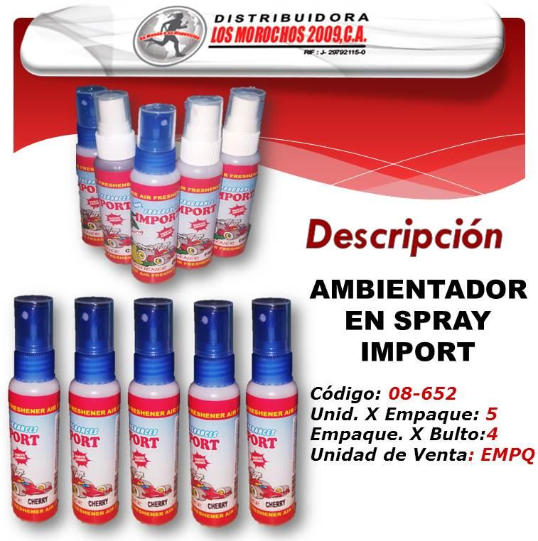 AMBIENTADOR  EN SPRAY SURTIDO IMPORT 5X1