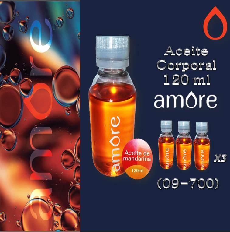 ACEITE AMORE MANDARINA 120 ml 3x1